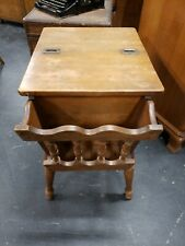 ETHAN ALLEN Dough Box Hardwood End Side table Magazine Book Traditional Retired