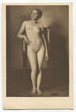 VINTAGE OLD ART DECO NUDE WOMAN POSTCARD BY SCHIEBERTH EDITION: KILOPHOT WIEN