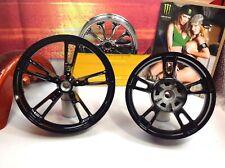 "Genuine 09-19 Harley Touring Enforcer Wheels Rims 19"" Front & 16"" Rear Black HD"