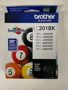 Genuine Brother LC201BK Standard-Yield Ink Cartridge - Black - Sealed