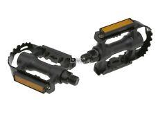 1 Par Sencillo Estable Pedales MTB, Cross ACERO Jaula Negro, reflectores Pedal
