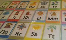ABC Alphabet Flash Cards Set - Educational Flashcards Picture & Letter A-Z Pack