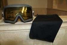 CARRERA Black Snow Goggles Yellow Lens Adjustable Gray Logo Headband with Pouch