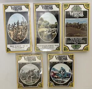 JA WOODLAND SCENICS-HO-#TK17-TK22-TK24-TK27-& TK28 Lot of 5 NEW/SEALED