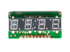 2x - 7 Segment 4 Digit LED Display - LTM-8648GKR-04 - 9 Pins - NOS