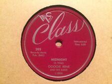 GOOGIE RENE - Midnight / Big Time   CLASS 205 - 78rpm