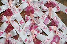 12 Baby Shower Pin Corsage It's A Girl Pink Ribbon DIY Party Favors Decoration