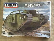 "EMHAR British MkIV ""Female"" WWI Tank 1:72 NEW Unopened Model Kit"