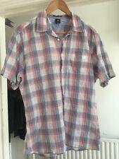White Stuff Size M Medium Short Sleeve Check Shirt Slim Fit