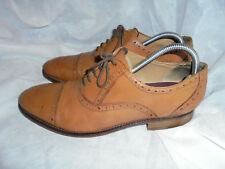 M & S Luxury Men's Brown Leather Lace Up Brogues shoes size UK 8.5 UE 42.5 Très bon état