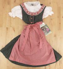 NWT Girls Isar Trachten Green Heart Red Apron Oktoberfest German Dress Sz 98