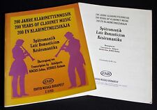 200 Years of Clarinet Music - Late Romanticism - for Clarinet and Piano