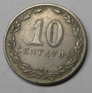 Argentina 10 Centavos 1938 Copper-Nickel KM#35