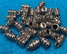 10 Antique Silver END CAP Round Tube Cord Tips Tibetan Silver  Jewelrys Finding