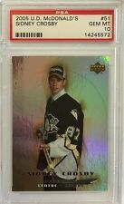 2005 UD MCDonalds #51 Sidney Crosby PSA Gem Mint (10)