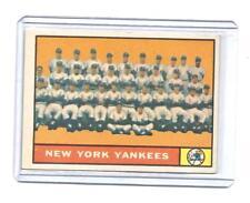 NEW YORK YANKEES TEAM CARD 1960 TOPPS VINTAGE BASEBALL CARD # 228 BOOKS 60.00