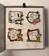 Disney Animation Oswald Cheshire Chip Dale Dopey 4 Pin Set Limited LE 800
