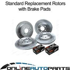 Front & Rear Standard Disc Rotors + Brake Pads Kit Ford Falcon BA BF FG 2002~14
