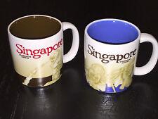 2x Singapore Starbucks 2009 Global Icon Collector Series 3oz Mug Cup Coffee Tea