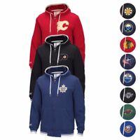 NHL Fashion Fleece Full Zip CCM Throwback Team Logo Premium Hoodie Men's