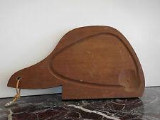 planche à découper bois fait main design XXème vintage CURIOSITY by PN