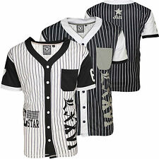 Mens Soulstar American Baseball Football T-shirt Jersey Style Top with Branding