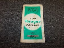 1984 Ford Ranger Truck Owner Owner's Operator User Guide Manual 2.0L 2.3L 2.8L