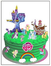 My Little Pony wafer card cake scene (uncut) 37 pieces