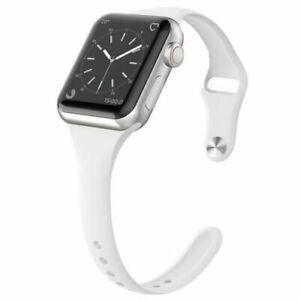 Slender soft Silicone Bracelet Strap Band For Apple Watch Series 7/6/5/4/3/2 SE