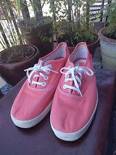 Mujer Keds Champion Oxford Coral Lona Con Cordones Zapatos Plimsoles