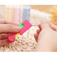 2pcs Elderly Use Automatic Easy Fine Sewing Needle Device Threader Thread Guide