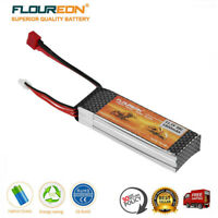 FLOUREON 1800mAh 3S1P 11.1V 25C T Plug RC LiPo Battery For RC Helicopter Car UAV
