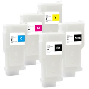 5PC PFI-320 Refillable Ink Cartridge For Canon TM-200 205 300 305 Printers