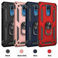 For LG Stylo 5,5 Plus,5v,5x, Phone Case Magnetic Hybrid Metal Ring Stand Cover