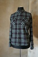 Womens SuperDry flannel checked shirt M 10 12 casual blouse The Lumberjack twill