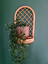 Original Vintage retro Bamboo Wall Shelf Boho Tiki mid century