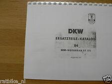 D0053 DKW---ERSATZTEILE-KATALOG 84---RT 175-MODELYEAR ABOUT--1954