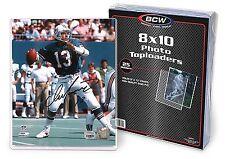 10 BCW Topload 8X10 Photo Hard Plastic Toploaders 8 X 10 Top Load Photo Holders