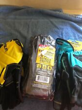 lot of new firm grip work gloves size large and medium