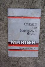 1993 Mercury Mariner 50 60 HP Outboard Motor Owner Operation Manual. S