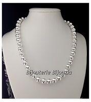 Collier maille Boules Argent massif 925/1000 Bijoux femme Qualité Bijouterie