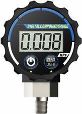 Elitech PG-20 Digital Vacuum Pressure Gauge for Air and Compatible Gases