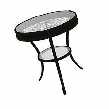 60ea3ca6b6ff Monarch Specialties Hammered Black Accent Table With Tempered Glass 20-inch
