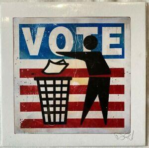 Litografia Denial Vote Firmato A Mano