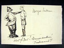Georg Roder (1867 - 1958) German painter Rare Original drawing signed