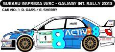 DECALS 1/43 SUBARU IMPREZA WRC - #1 - GASS - RALLYE GALWAY 2013 - D43175