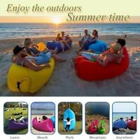 Rapid Inflatable Lounger Lightweight Beach Sleeping Bag Air Hammock Folding