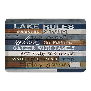 Laural Home Lake Rules Floor Mat