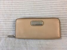 Marc by Marc Jacobs tan leather large zip around wallet
