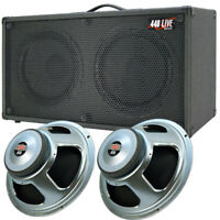 2x12 Guitar Spkr Cabinet Charcoal black Tolex W/CELESTION Seventy 80 Speakers